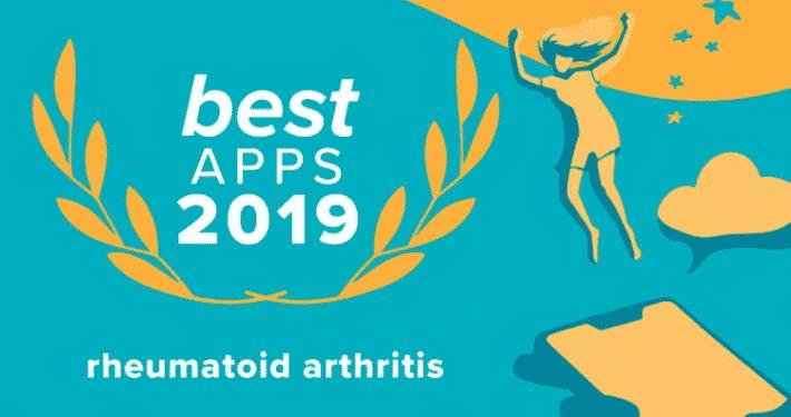 """Image of the """"Best Rheumatoid Arthritis Apps 2019"""" from Healthline Media"""