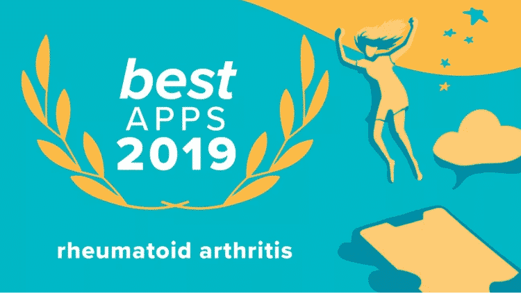 "Image of the ""Best Rheumatoid Arthritis Apps 2019"" from Healthline Media"