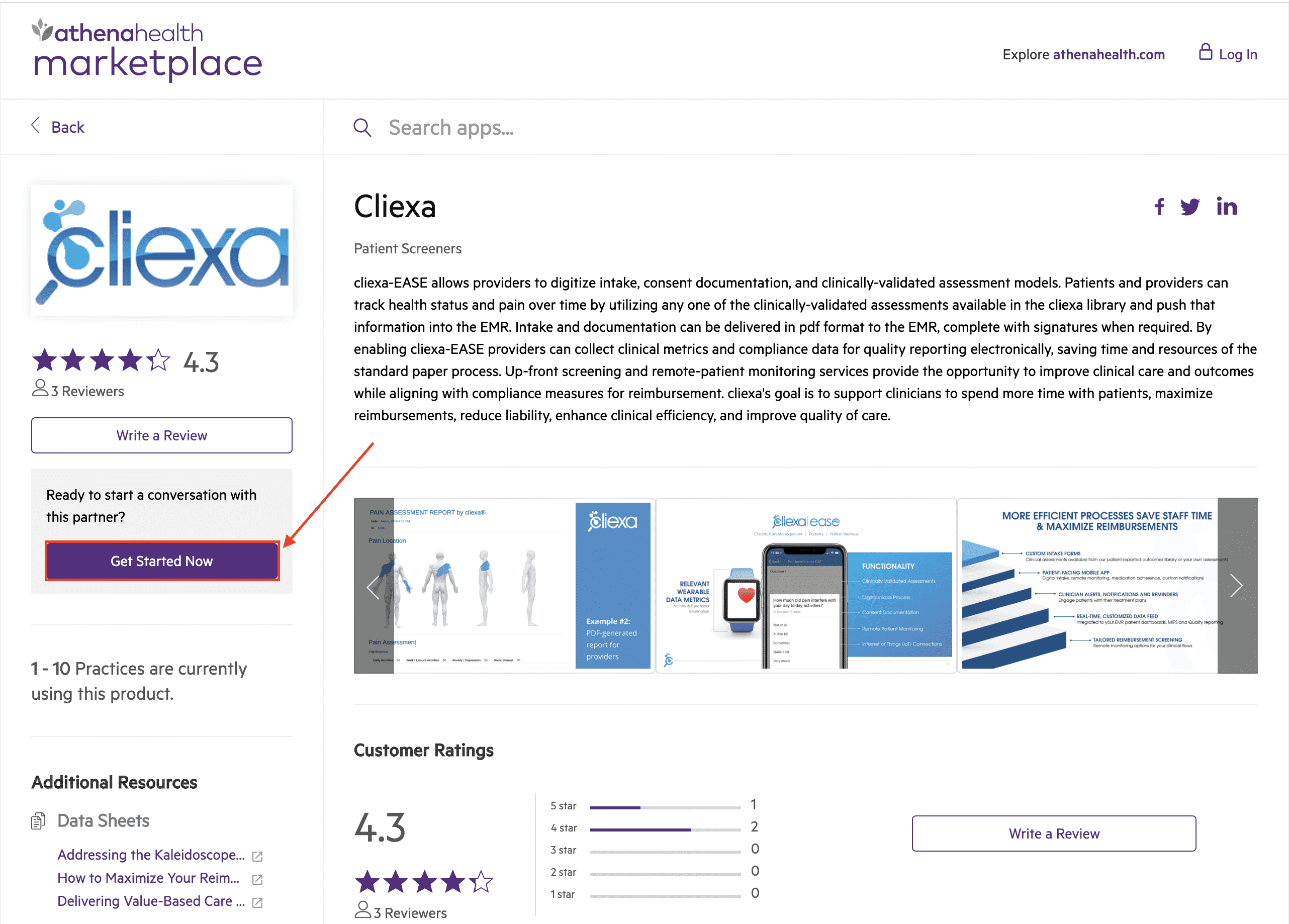 cliexa's athenahealth Marketplace Setup Guide (Step #2)