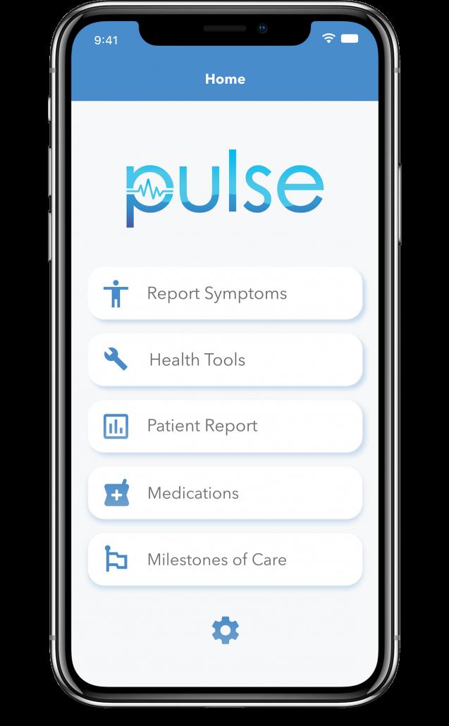 Home Screen Menu of the cliexa-PULSE platform