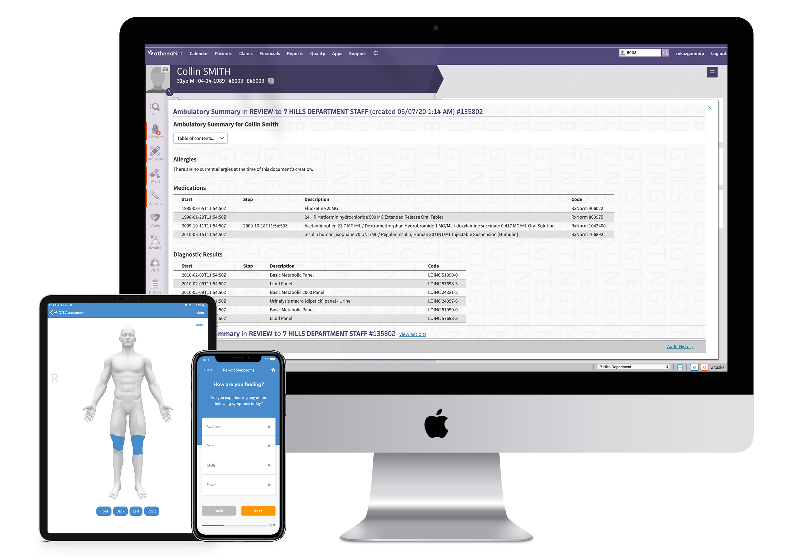 cliexa Devices with athenahealth EMR