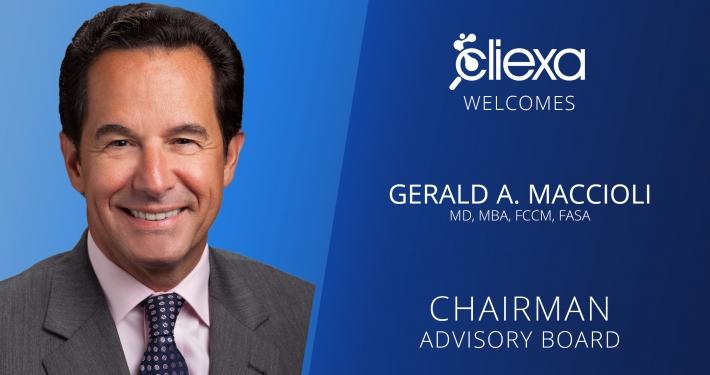 cliexa welcomes Dr Macciolli as chairman of advisory board